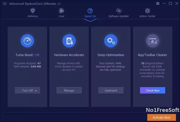Advanced SystemCare Ultimate One click Download link